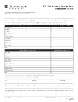 Income Expense Form Fill Online Printable Fillable