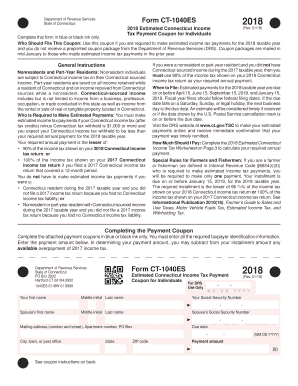 form ct1040 2018 Form CT DRS CT-1040ES Fill Online, Printable, Fillable, Blank ...