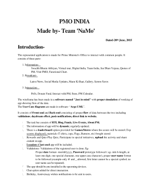 Fillable Online Made by- Team 'NaMo ' Fax Email Print