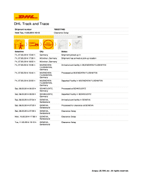 dhl tracking number - Fill Out Online, Download Printable