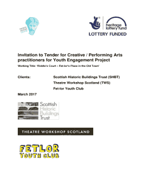 Invitation to Tender for Creative / Performing Arts