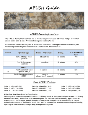 Editable apush timeline period 2 Templates to Complete