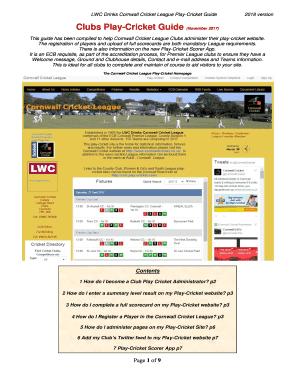 Fillable cricket scorer app - Edit, Print & Download Form Templates