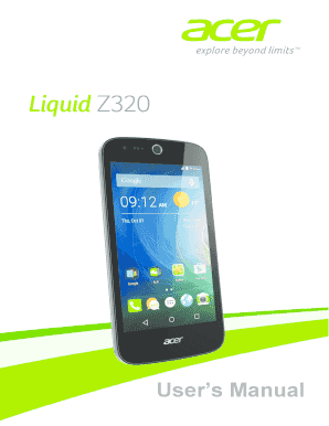 fillable online acer liquid z320 duo users manual fax email print rh pdffiller com acer user manual pdf acer user manual w10