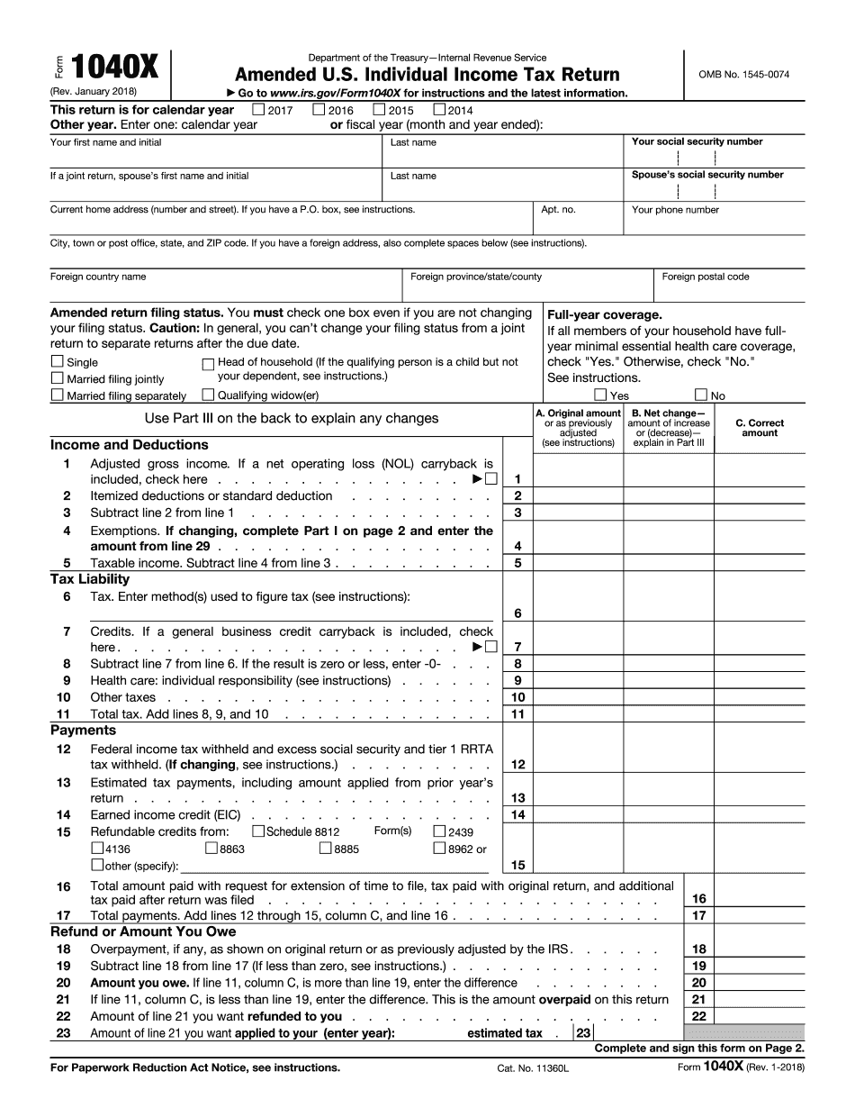 Form 1040-X