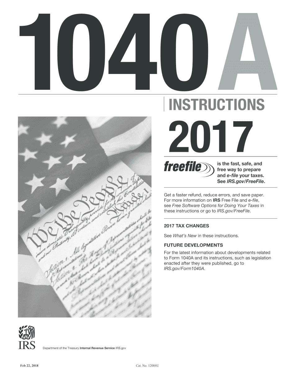 Form Instructions 1040-A