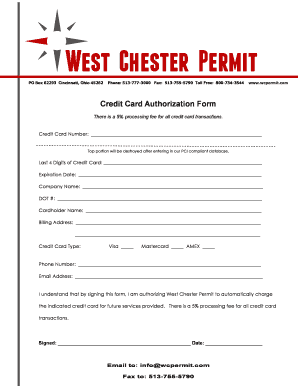 Printable pci compliant credit card form Templates to Submit