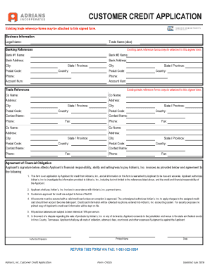 existing trade reference forms may be attached to this signed form