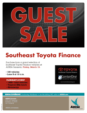 Printable Southeast Toyota Finance Templates To Submit Online In PDF |  Personal Credit Application.com