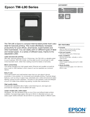 Printable epson receipt printer paper size - Fill Out