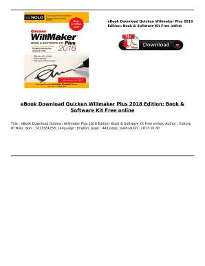 quicken willmaker plus 2018 download - Fillable & Printable