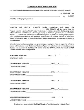 Printable Draft Addendum Lease Agreement Samples To Submit