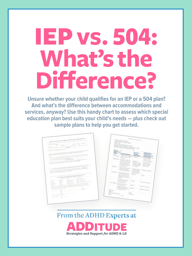 504 Plan Or Iep Whats Difference >> Unsure Whether Your Child Qualifies For An Iep Or A 504 Plan Fill