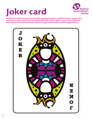 Fillable quiz joker card to complete online quiz score sheet joker card joker card double your points on your top round by playing your joker cardeach team can play their card once on any round maxwellsz