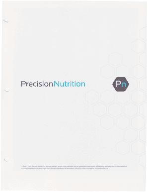 precision nutrition forms - Edit Online, Fill, Print