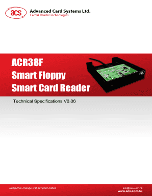 ADVANCED CARD SYSTEMS ACR38F SMART FLOPPY DOWNLOAD DRIVER