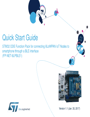 Fillable Online STM32 ODE Function Pack for connecting