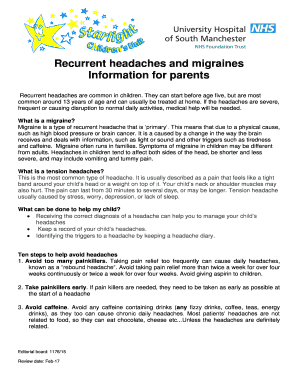 Recurrent Headaches And Migraines