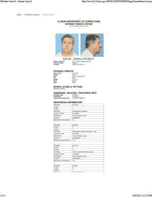Fillable Online Inmate Search Fax Email Print - PDFfiller