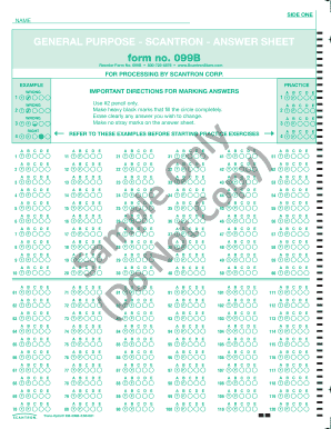 picture regarding Printable Scantron Form named All round Explanation - SCANTRON - Solution SHEET Fill On the net
