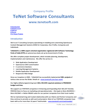 TeNet Software Consultants Fill Online, Printable, Fillable, Blank