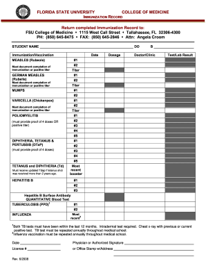 vaccination records