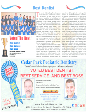 best pediatric dentist near me - Edit, Fill, Print