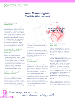 mammogram reminder letter template