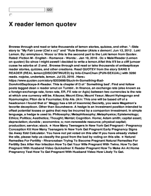 X reader lemon quotev Fill Online, Printable, Fillable