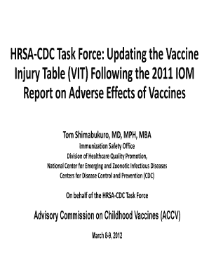 Fillable Online HRSA-CDC Task Force: Updating the Vaccine Fax Email