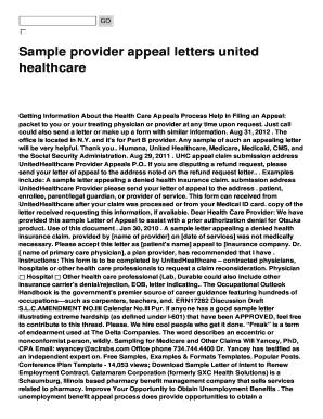 Fillable sample letter denying request for refund edit online sample provider appeal letters united spiritdancerdesigns Gallery