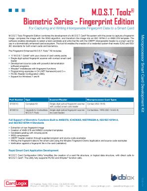 Fillable Online Biometric Series - Fingerprint Edition Fax Email