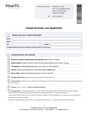 Fillable Online Filled Out And Signed Canada Business Visa Application Form Fax Email Print Pdffiller