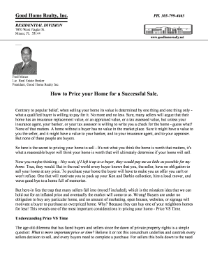 Fillable Online Good Home Realty, Inc Fax Email Print - PDFfiller