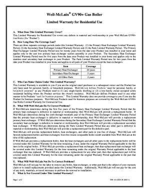Fillable Online Weil Mclain Gv90 Gas Boiler Fax Email Print Pdffiller