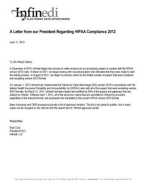 hipaa compliance letter - Forms & Document Templates to