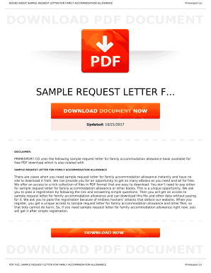 Printable request letter for family accommodation allowance