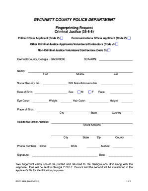 gwinnett county fingerprinting - Edit & Fill Out Top Online