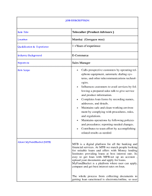 Printable Telecaller Resume Sample Edit Fill Out Download