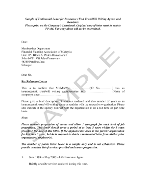 fillable sample testimonial letter edit online download forms in