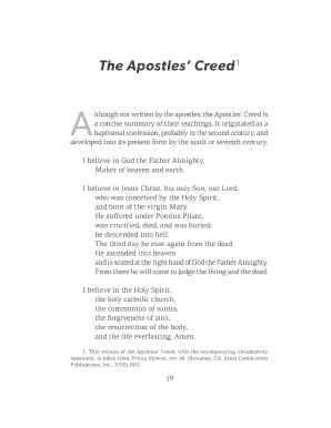 Apostles Creed Pdf
