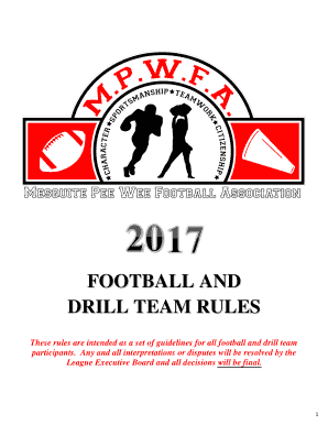 Fillable Online DRILL TEAM RULES Fax Email Print - PDFfiller