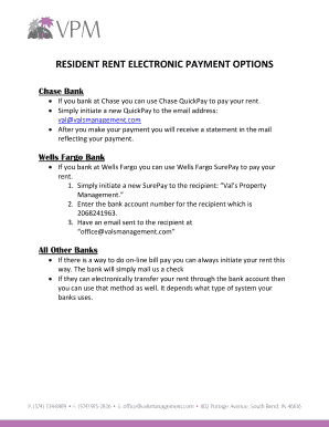 RESIDENT RENT ELECTRONIC PAYMENT OPTIONS Fill Online, Printable
