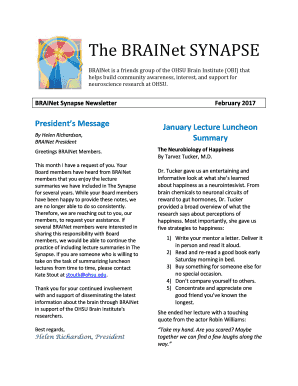 Fillable Online The BRAINet SYNAPSE Fax Email Print - PDFfiller