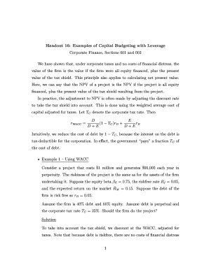 submit capital budgeting examples form samples in pdf