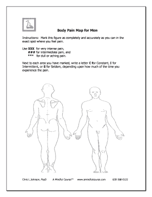 Fillable pain body map Templates to Create in PDF Online ...