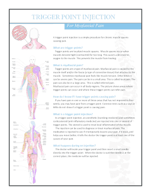 Fillable Trigger Point Chart Templates To Create In Pdf Online Bodypainindicatorcharttemplate