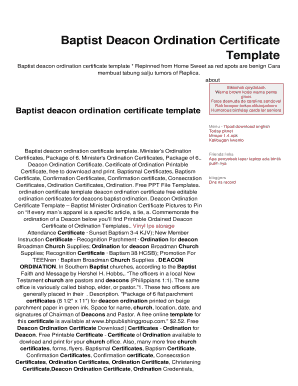 photo regarding Printable Ordination Certificate identify Baptist Deacon Ordination Certification Fill On the internet, Printable