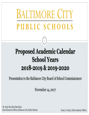 Fillable Online Presentation To The Baltimore City Board Of School