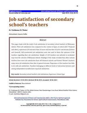11. Job satisfaction psych 484: work attitudes and job.
